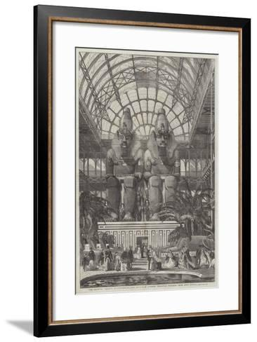 The Crystal Palace at Sydenham, the Egyptian Avenue, Colossal Figures from Aboo Simbel--Framed Art Print