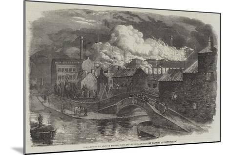 Destruction by Fire of Messers Hine and Mundella's Hosiery Factory at Nottingham--Mounted Giclee Print
