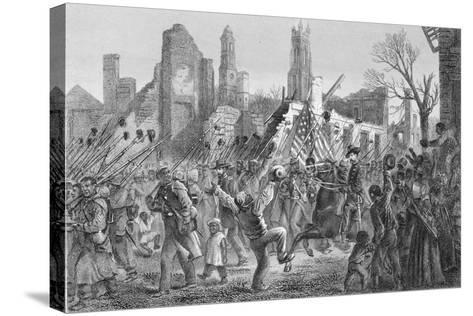 Entrance of the Fifty-Fifth Massachusetts Regiment into Charleston on 21st Feb 1863--Stretched Canvas Print