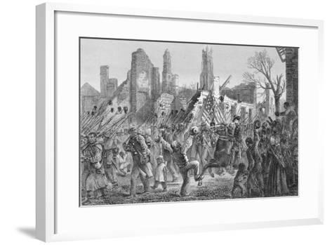 Entrance of the Fifty-Fifth Massachusetts Regiment into Charleston on 21st Feb 1863--Framed Art Print