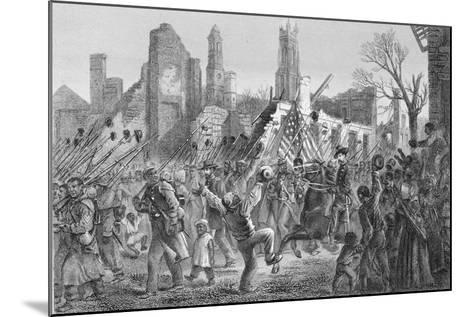 Entrance of the Fifty-Fifth Massachusetts Regiment into Charleston on 21st Feb 1863--Mounted Giclee Print