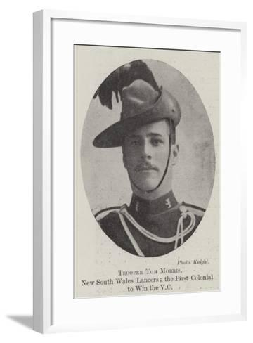 Trooper Tom Morris, New South Wales Lancers; the First Colonial to Win the Vc--Framed Art Print