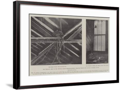 The Thrush's Nest in the Crystal Palace Telegraph-Office Through Which the Cup-Tie Telegrams Passed--Framed Art Print