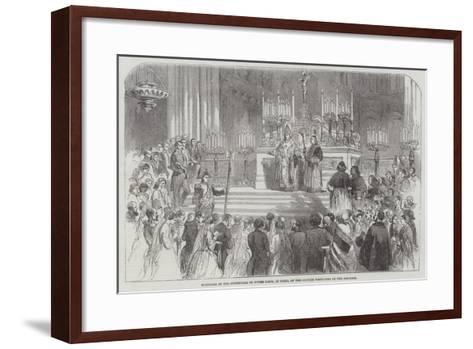 Marriage in the Cathedral of Notre Dame, at Paris, of the Couples Portioned by the Emperor--Framed Art Print