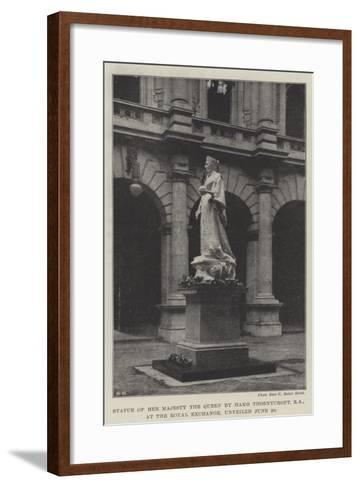 Statue of Her Majesty the Queen by Hamo Thornycroft, Ra, at the Royal Exchange, Unveiled 20 June--Framed Art Print
