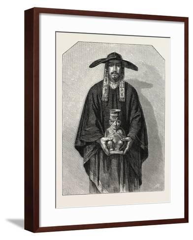 Salon of 1855. Peruvian School. Inhabitants of the Cordillera, 1855--Framed Art Print