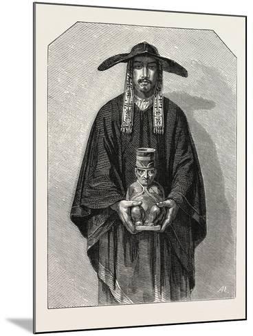 Salon of 1855. Peruvian School. Inhabitants of the Cordillera, 1855--Mounted Giclee Print