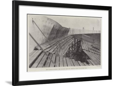 The Glasgow Disaster, the Wrecked Terracing Through Which the Victims Fell--Framed Art Print