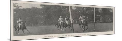 Polo Match Between Ranelagh and a Cavalry Team, a Goal for the Cavalry--Mounted Giclee Print