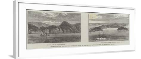 Sunday Island, One of the Kermadec Isles, in the Pacific, Lately Annexed to the British Empire--Framed Art Print