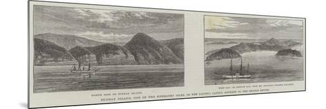 Sunday Island, One of the Kermadec Isles, in the Pacific, Lately Annexed to the British Empire--Mounted Giclee Print