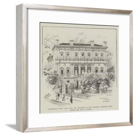 Dorchester House Park Lane, the Residence of the Shahzada Nasrullah Khan During His Stay in London--Framed Art Print