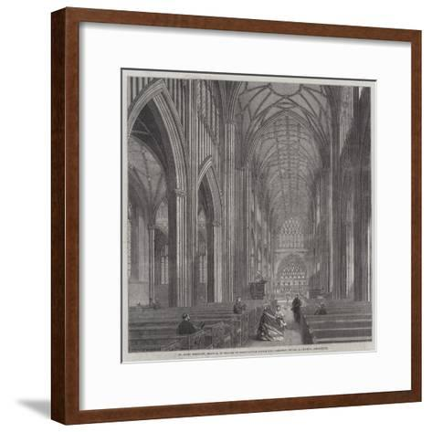 St Mary Bedcliff, Bristol, in Process of Restoration under the Direction of Mr G Godwin, Architect--Framed Art Print