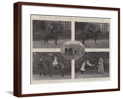 The Direct Line of Succession to the British Throne, the Children of the Prince of Wales--Framed Art Print