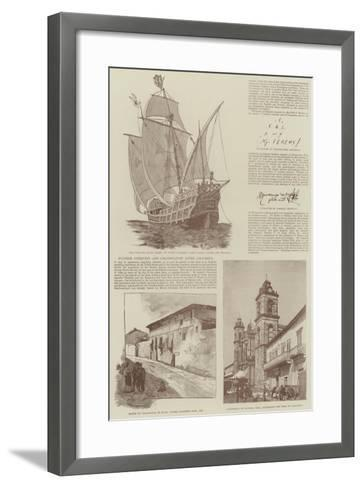 Christopher Columbus and the Fourth Centenary of the Discovery of America--Framed Art Print