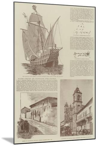 Christopher Columbus and the Fourth Centenary of the Discovery of America--Mounted Giclee Print