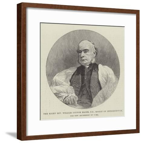 The Right Reverend William Connor Magee, Dd, Bishop of Peterborough, the New Archbishop of York--Framed Art Print