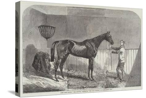 Lord John Scott's The Reiver, Winner of The July Stakes, at Newmarket, 1852--Stretched Canvas Print