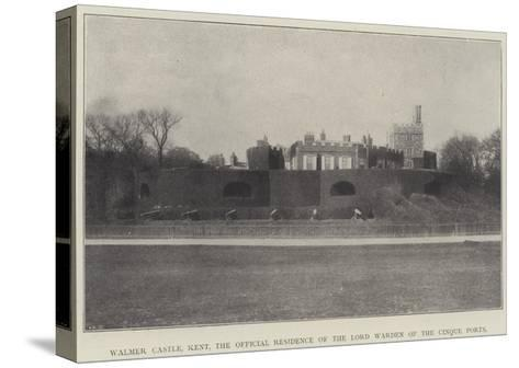 Walmer Castle, Kent, the Official Residence of the Lord Warden of the Cinque Ports--Stretched Canvas Print
