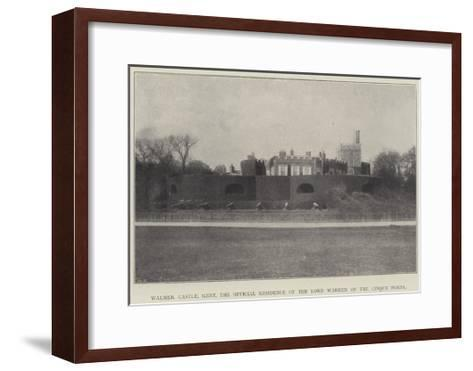 Walmer Castle, Kent, the Official Residence of the Lord Warden of the Cinque Ports--Framed Art Print