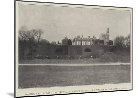 Walmer Castle, Kent, the Official Residence of the Lord Warden of the Cinque Ports--Mounted Giclee Print