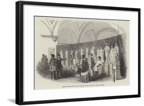 Designs for the Peel Monument, Exhibited in the Town-Hall, at Bury, Lancashire--Framed Art Print