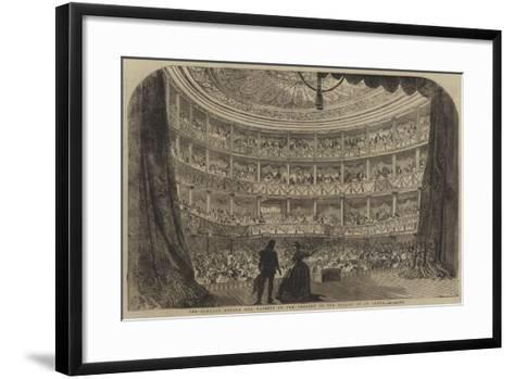 Performance before Her Majesty in the Theatre of the Palace of St Cloud--Framed Art Print