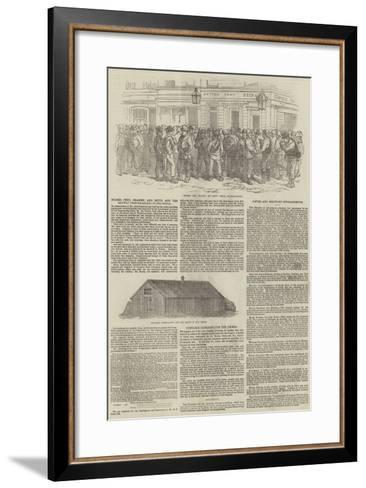 Messers Peto, Brassey, and Betts, and the Railway from Balaclava to Sebastopol--Framed Art Print