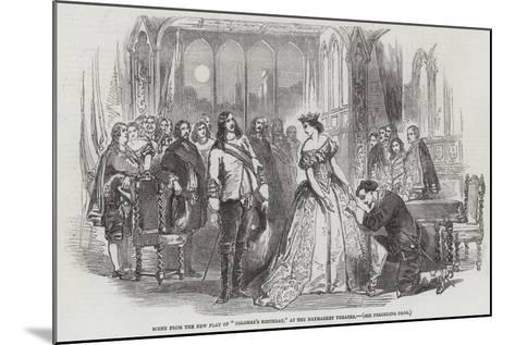 Scene from the New Play of Colombe's Birthday, at the Haymarket Theatre--Mounted Giclee Print