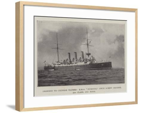 Ordered to Chinese Waters, HMS Furious, Twin Screw Cruiser, 2nd Class, 5750 Tons--Framed Art Print