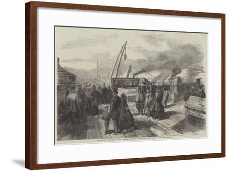 A Sketch on the Deck of the Great Eastern During the Late Public Inspection--Framed Art Print