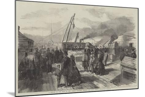A Sketch on the Deck of the Great Eastern During the Late Public Inspection--Mounted Giclee Print