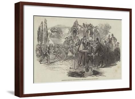 Greenwich Pensioners' Cricket-Match, at the Priory Grounds, Near Lewisham--Framed Art Print
