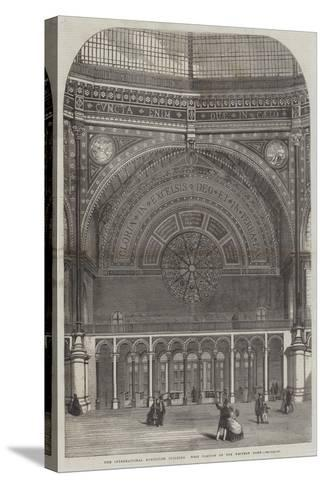 The International Exhibition Building, West Portion of the Western Dome--Stretched Canvas Print