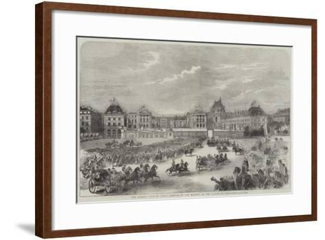 The Queen's Visit to Paris, Arrival of Her Majesty at the Palace of Versailles--Framed Art Print