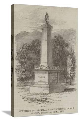 Monument to the Royal Marines Erected in the Cemetery, Hong-Kong, China, 1860--Stretched Canvas Print