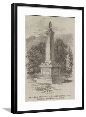 Monument to the Royal Marines Erected in the Cemetery, Hong-Kong, China, 1860--Framed Art Print