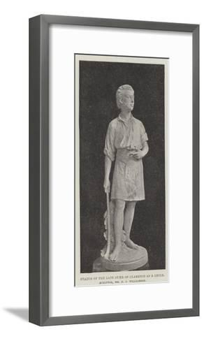 Statue of the Late Duke of Clarence as a Child, Sculptor, Mr F J Williamson--Framed Art Print