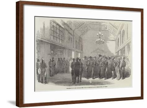 Reception of Lord Raglan, the Duke of Cambridge, and their Suites, at Paris--Framed Art Print