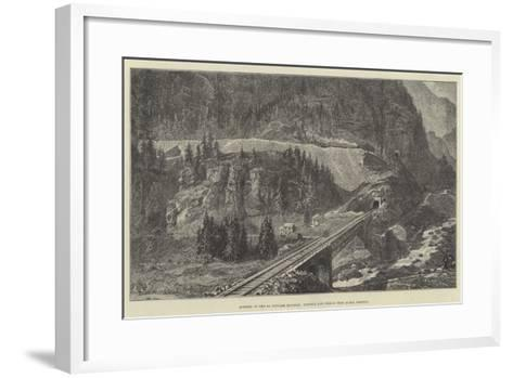 Opening of the St Gothard Railway, Tunnels and Zigzag Near Monte Piottino--Framed Art Print