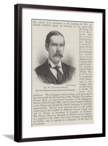 Mr W Conyngham Greene, the New British Political Agent in the Transvaal--Framed Art Print