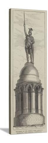 Monument of the German Hero Arminius (Hermann), Near Detmold, Westphalia--Stretched Canvas Print