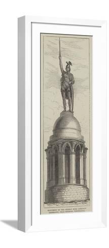 Monument of the German Hero Arminius (Hermann), Near Detmold, Westphalia--Framed Art Print