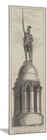 Monument of the German Hero Arminius (Hermann), Near Detmold, Westphalia--Mounted Giclee Print