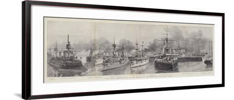 The Naval Demonstration at the Opening of the North Sea and Baltic Canal--Framed Art Print