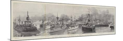 The Naval Demonstration at the Opening of the North Sea and Baltic Canal--Mounted Giclee Print