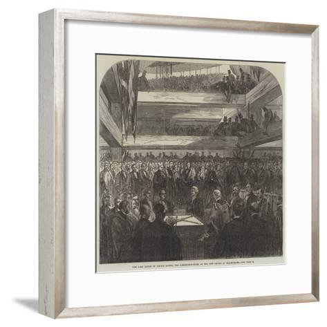 The Lord Mayor of London Laying the Foundation-Stone of the New Bridge at Blackfriars--Framed Art Print