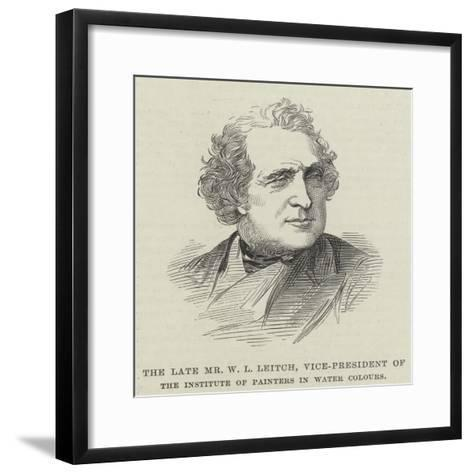 The Late Mr W L Leitch, Vice-President of the Institute of Painters in Water Colours--Framed Art Print