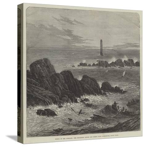 Wreck of the Schiller, the Retarrier Ledges and Bishop Rock Lighthouse, Scilly Isles--Stretched Canvas Print