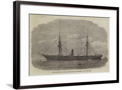 The Rhone, One of the Vessels Lost in the Late Hurricane in the West Indies--Framed Art Print